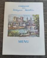 """MENU - COMPAGNIE  DES MESSAGERIES MARITIMES - PAQUEBOT  """"  LA  BOURDONNAIS  """"  25 Décembre 1963  ( Pau Le Château  ) - Boats"""