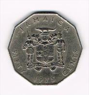 ¨ JAMAICA  50  CENTS  1975 - Jamaique