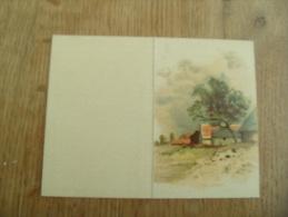 1908 calendrier illustration paysage
