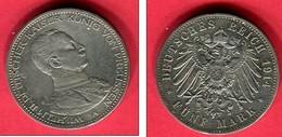 PRUSSE 5 MARKS 1913 TTB 70 - [ 2] 1871-1918: Deutsches Kaiserreich