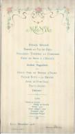 Menu/ Berrier Et Milliet/ LYON/1908      MENU74 - Menus
