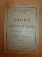 1925-1926 Ecole Spéciale Militaire De St-Cyr COURS De SCIENCES APPLIQUEES (Notion électricité,Elecricité Industrielle) - Documents