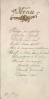 Menu/ PotageMousseline / Marius Jacquesmont/1899    MENU76 - Menus