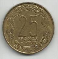 Cameroon Cameroun 25 Francs 1958. - Cameroun