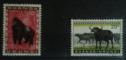 RUANDA-BURUNDI  -  Buffle / Gorille  - Neuf - Ruanda-Urundi