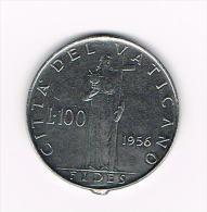 ¨ VATICAANSTAD  100 LIRE  PAUS  PIUS XII 1956 - Vatican