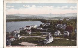 ADIRONDACKS, N. Y. -  Miror Lake And Southern Range Of Mountains, Showing Mount Marcy, Lake Placid- 1919 - Adirondack