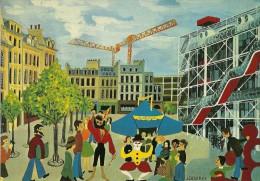 MUSEE  D'ART MODERNE GEORGES POMPIDOU  PARIS NEIF  AQUARELLE JACQUELINE DESFRAY - Museum