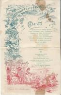 Menu/Syndicat Des Vins Et Spritueux De Lyon/Rhône/ 1908   MENU83 - Menus