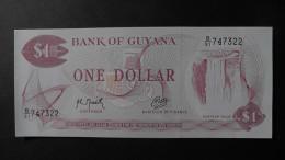 Guyana - 1 Dollar - 1989 - P 21g2 - Unc  - Look Scan - Guyana