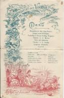 Menu/Syndicat Des Vins Et Spritueux De Lyon/Rhône/ 1907   MENU84 - Menus