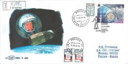 RUSSIA 2001 40 YEARS OF SPACE FLIGHT Yuri Gagarin (POST OFFICE: Gagarin, Smolensk Region) - Stamped Stationery