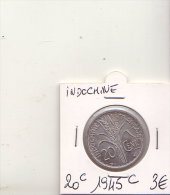 INDOCHINE 20 CENTIMES  1945 C - Monnaies