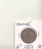 INDOCHINE 20 CENTIMES  1945 B - Monnaies