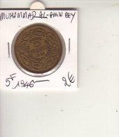 TUNISIE 5 FRANCS 1946 MUHAMMAD AL AMIN BEY - Tunisia