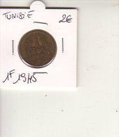 TUNISIE  BON POUR 1 FRANC 1945 - Tunesië