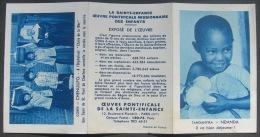 CALENDRIER DE POCHE ANNEE  - OEUVRE PONTIFICALE DE LA SAINTE ENFANCE - CALENDAR