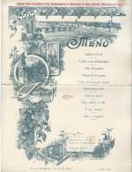 Menu/Syndicats Réunis Du Commerce En Gros/ Macon-Belleville-Villefranche Sur Saône/1908   MENU86 - Menus