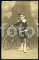 1922 REAL PHOTO POSTCARD  TRICYCLE VELO CARTE POSTALE - Motos