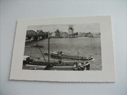 NAVE SHIP BARCONI  PONTE ROTTERDAM HAVENGEZICHT MET WITTE HUIS - Chiatte, Barconi