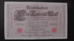 Germany 1.000 Mark 1910-04-21 - P44b/1 - 7 Digit Serial#  - Underprint Z - Serie A - VF - Look Scans - [ 2] 1871-1918 : German Empire