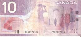 BILLETE DE CANADA DE 10 DOLLARS DEL AÑO 2001  (BANKNOTE) - Canada