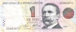 BILLETE DE ARGENTINA DE 1 PESO CONVERTIBLE - CARLOS PELLEGRINI (BANKNOTE) - Argentina