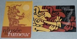 Lot De 2 CPM Cartes Illustrées, Publicitaire, Pub, Le Musée Du Fumeur, Paris - Advertising