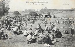 Les Grandes Manoeuvres - Les Troupes Au Repos - Carte E.L.D En 1909 - Manoeuvres