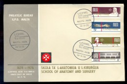 MALTA FDC 1976 * SCHOOL OF ANATOMY AND SURGERY * MEDICAL - Malta