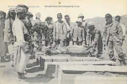 Maroc - Colonne Kénifra - Juillet 1914- Un Glorieux Tué Transporté à Ito - War 1914-18