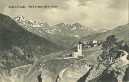 Suisse CPA Avers Cresta Vue Sur Le Village Les Alpes - Otros
