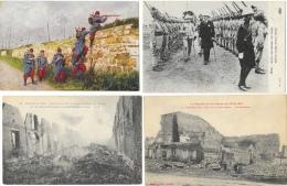 Beau Lot De 35 CPA Guerre De 1914 (24 Cartes Non écrites) - Beaucoup De Cartes Animées - Guerra 1914-18