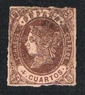 Ed. 58 Isabel I 4 Cuartos Usado - 1850-68 Royaume: Isabelle II