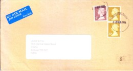 GREAT BRITAIN COMMERCIAL COVER 2003 -POSTED FROM GLASGOW MAIL CENTRE FOR INDIA - 1952-.... (Elizabeth II)