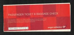 Virgin Atlantic Airways Airline Transport Ticket Used Passenger Ticket  3  Scan
