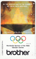 JAPAN - Olympic Flame, Brother, Worldwide Sponsor Of The Barcelona 1992 Olympics(290-14842) ,NTT Telecard 50 Units, Used - Jeux Olympiques