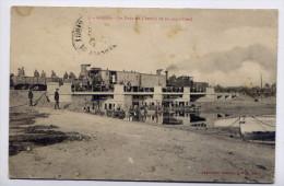 Alg�rie--GABES--1919--Le Pont de chemin de fer sur l�oued-cachet militaire 4�R�gt Zouaves-cachet St VICTOUR--19--