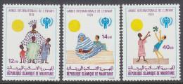 MAURITANIA, 1979 IYC 3 MNH - Mauritania (1960-...)
