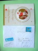 Belgium 2011 Cover To Nicaragua - Christmas - Christmas Card Inside - Belgio