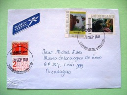 Holland 2011 Cover To Nicaragua - Cattle Cow Bird Eagle - Periodo 1980 - ... (Beatrix)