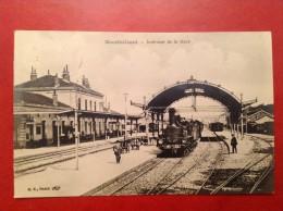 25 Doubs MONTBELIARD Interieur De La Gare - Montbéliard