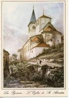 Les Pyrénées : L´église Saint Aventin - Lithographie De Villeneuve XIXè Siècle - N°31/44 Occitane - Altri Comuni