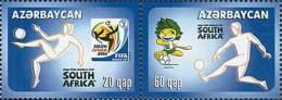 Azerbaïjan 2010 Mih. 802/03 Football. FIFA World Cup In South Africa MNH ** - Azerbaïdjan