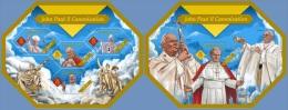 slm14405ab Solomon Is. 2014 Pope John Paul II 2 s/s