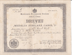 "Romania ""Carol I-st Jubilee Medal 1906"" - Roumanie ""Carol I M�daille du jubil� 1906"" original award"