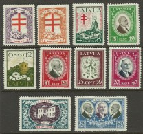LETTLAND Latvia 1930 Michel 161 - 170 Tuberkulose - Fürsorge * - Lettonia