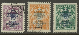 LETTLAND Latvia Lettonia 1923 Für Die Invaliden Michel 100 - 102 O - Latvia