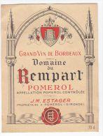 """ETIQUETTE """"DOMAINE DU REMPART"""" - Bordeaux"""
