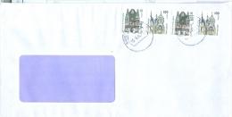BRD 2x Mi. 2187 C Rathaus Wernigerode + 2x Mi. 2188 C Schloss Schwerin TGST BZ 10 2002